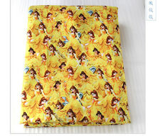 Beauty and the Beast Fabric Poly Cotton 1m x 1.47m Princess Belle