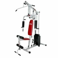 Lifeline home gym square pipe 150 lbs wt stacks. 21 typ exerciser machin