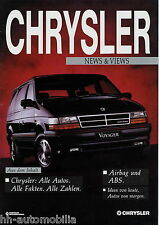 Prospekt Chrysler News Views 1991 LeBaron Daytona Shelby Viper RT/10 Voyager