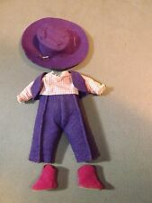 VNTG 1955 Vogue Ginny doll Cowboy outfit,Purple & pink,w/hat & boots Medford tag