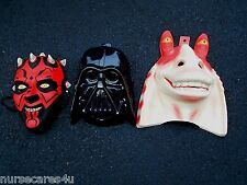 ADULT STAR WARS MASK SET (3) HALLOWEEN JAR JAR DARTH VADER DARTH MAUL ADULT