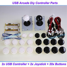 Arcade DIY KIT Parts USB Encoder To PC Joystick + 20 China Push Buttons For MAME