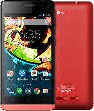 Three Triple Tri Sim card Mobile Smartphone 3 sim Android Explay Tornado Red