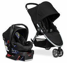 Britax 2016 B-Agile 3 Stroller & B-Safe 35 Infant Car Seat Travel System Black!!