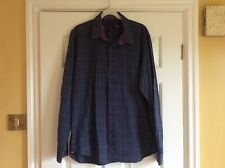 Mens Shirt, Ted Baker, 16.5, Navy With Multi Check