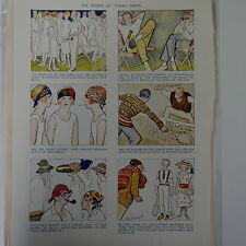 "7x10"" punch cartoon 1925 THE ETHICS OF TENNIS DRESS"