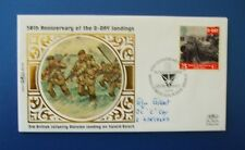 1994 D DAY OPERATION SWORD BEACH FDC SIGNED BY GLYN GILBERT 2ND LINCOLNS