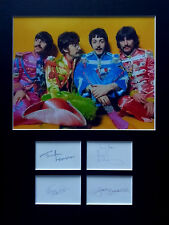 THE BEATLES signed autographs PHOTO DISPLAY Lennon McCartney Sgt Pepper
