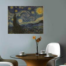 CANVAS print Vincent van Gogh Starry Night wall art repro photo home office deco