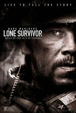 LONE SURVIVOR - 2013 - orig D/S 27X40 advance Movie Poster- MARK WAHLBERG - war