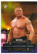 2015 Topps WWE Road to Wrestlemania Classic Matches #18 Goldberg Brock Lesnar