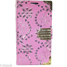 Bling Glitter Designer Diamond Book Flip Wallet Case Cover FOR NOKIA SAMSUNG IPH