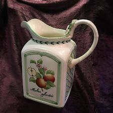 RARE Villeroy & Boch FRENCH GARDEN CHARM Large 84 oz. Pitcher D663 Mettlach