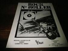 ROCK N'ROLLER - Publicité de magazine / Advert !!! ENERGIE !!!!!