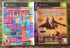 Star Wars:The Clone Wars / Tetris Worlds Online Edition Xbox Complete Free S&H!