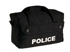 Police Equipment Bag Black Heavyweight Canvas Tactical Gear Bag