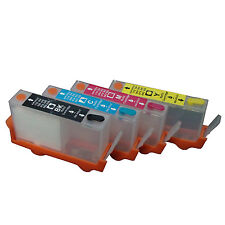 For HP364 5524 6510 6520 B010a B109a/nd/f Refillable ink Cartridge 4pcs Chipped