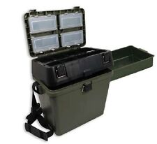 NEW GREEN FISHING SEAT BOX FOR CARP FISHING SEA FISHING TACKLE NGT TACKLE