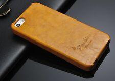 Apple iPhone 5s/5 Farbe Gelb Luxus Hülle Tasche Klapp Etui Flip Case Leder Top
