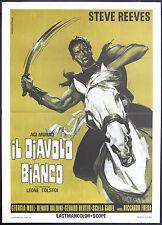 CINEMA-manifesto AGI MURAD IL DIAVOLO BIANCO reeves, moll, baldini, FREDA