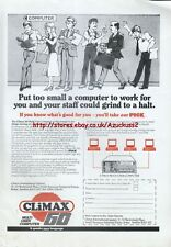 "Climax 60 Multi-User Computer Pick ""Vintage Computer"" 1984 Magazine Advert #5212"