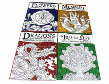 Advanced Art Colouring 4 Books Collection Pack Set- Dragons and Magical Beasts