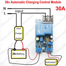 36V 30A Automatic Battery Charger Protection Module Auto Controller Relay Board