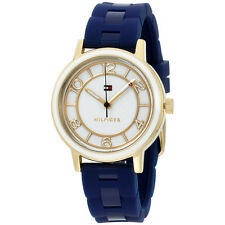 Tommy Hilfiger Women's Quartz Silver and Gold and Silicone Casual Watch 1781669