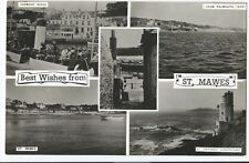 CORNISH POST CARD BEST WISHES FROM St. MAWES