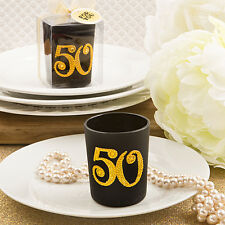 25 Golden 50th Candle Anniversary Birthday Favors Party Event Favor Bulk Lot