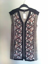 NWT H&M SPRING COLLECTION SNAKE SKIN PATTERNED FRONT ZIPPER DRESS