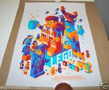 """Tom Whalen """"The Lego Movie"""" Mondo Movie Poster Print - 1st Edition Numbered"""