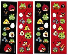 4 Sheets ANGRY BIRDS Stickers!  Piggies