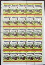1943 WD / LMR GORDON AUSTERITY Class Train 50-Stamp Sheet (Leaders of the World)