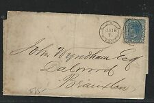 NEW SOUTH WALES (P1306B) 1871 JAN QV 2D COVER TO BRAXTON