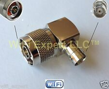 N Type male Plug to BNC female Jack right angle 90° RF adapter connector 16x16mm