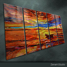 Modern Original Metal Wall Art Abstract Special Indoor Outdoor Decor by Zenart
