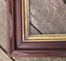 1860 Large AMERICAN ADIRONDACK Style Carved Walnut Antique Victorian 18 x 24 Frm
