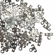 100 Spacer Bars Connectors 2 holes Silver Plated 9 mm Metal Jewellery Findings
