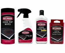 Weiman Glass & Ceramic Cook Top Cleaner, Polish, Wipes & Pads - 4pc Set