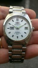 ORIENT WATCH WATER RESISTANT DAY -DATE ACCIAIO INOX VINTAGE
