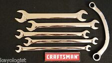 CRAFTSMAN TAPPET Wrench Set SAE STD 5pc OBSTRUCTION Wrench FULL POLISH #540
