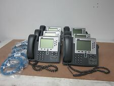 Lot of 6 Cisco 7900 Series 7960G / CP-7960G / 0765-04-1086 Business IP Phones