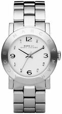 Marc By Marc Jacobs Amy Silver Tone Stainless Steel Ladies Watch MBM3054 NWT