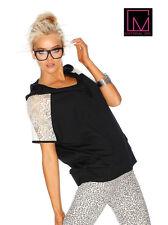 Kapuzen-Shirt. Material Girl. Schwarz. Gr. 32/34. NEU!!!