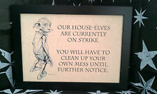 Harry Potter Dobby A4 Framed Picture, Print, Ornaments, Must Have For All Fans