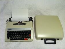 Royal Olivetti MS 25 Premier Plus Portable Typewriter w/ Carrying Case Cover VGC