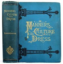 1891 ANTIQUE ETIQUETTE BOOK OLD VICTORIAN HOUSEHOLD MANUAL MANNERS DRESS RECIPES