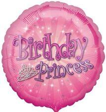 Fête Princesse De Joyeux Anniversaire Circle Rose Pour Filles Ballon Plat
