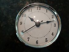 "3-1/8""(80MM)QUARTZ CLOCK FIT-UP/Insert,Silver Trim,Arabic Numeral,White Face,HMS"